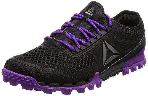 Reebok Women's All Terrain Super 3.0 Running Shoes, Black (Coal/Ash Grey/Vcs Violet/Vtl...