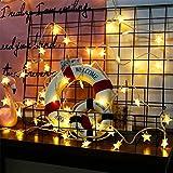 Hihey Hihey Weihnachtsbeleuchtung mit LED Kugel 30 Sterne Leuchtioden Lichtervorhang Sternenvorhang Innen & Außenlichterkette Wasserdicht Dekoration für Weihnachten Deko