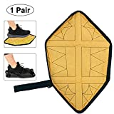 KOBWA Hände Frei Schuhüberzieher, Schritt in Socke Schuhe, Wiederverwendbar Waschbar Rutschfeste Überschuhe für Sneaker und Stiefel Gelb