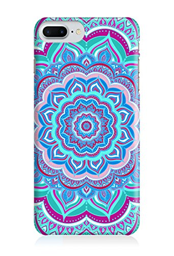 Cover MANDALA AZTEC blau mint hellgrün Handy Hülle Case 3D-Druck Top-Qualität kratzfest Apple iPhone 7