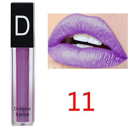 Rouge à Lèvres, Tefamore Liquide Imperméable Rouge à Lèvres Hydratant Velours Maquillage de Beauté cosmétique à Lèvres (11#)