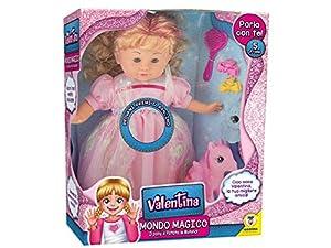 TEOREMA 66108 Valentina Mondo mágico - Muñeca con Voz, Pony y Accesorios, Color Rosa