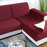 YLCJ 1 Stück Plüsch Sofabezug Hochwertiges Sofa Hohe Qualität Sofabezüge für Haustiere Geeignet für DREI Sitze mit Ecksofa, Rot, 90 * 240 cm