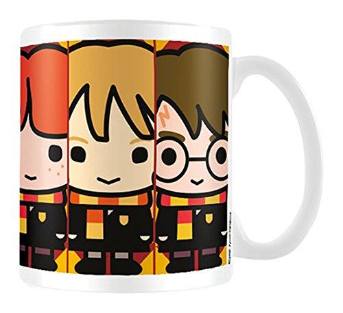 Harry Potter Carcasa Brujas y Magos Taza de cerámica, Multicolor