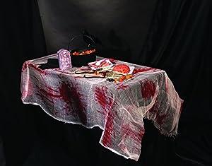 Forum Novelties - Funda para mesa, color blanco, rojo, talla única