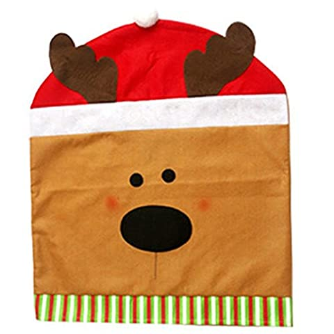 LanLan Christmas Coverings Chair Sets 50cm*60cm Gift for The Coverings Christmas Elk