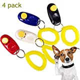 BOENTA Hund Clicker Pet Training Tools Gehorsam Clicker 4 Farbverhalten Clicker mit Handschlaufe für Hunde Katzen (4 Stück)