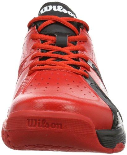 Wilson RUSH SPORT RED/BLACK/RED, Scarpe da tennis uomo Multicolore (Mehrfarbig (Red/Black/Red))