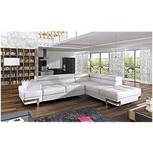 justyou emporio canap dangle sofa canap lit avec coffre cuir cologique lxlxh - Canape Cuir Angle