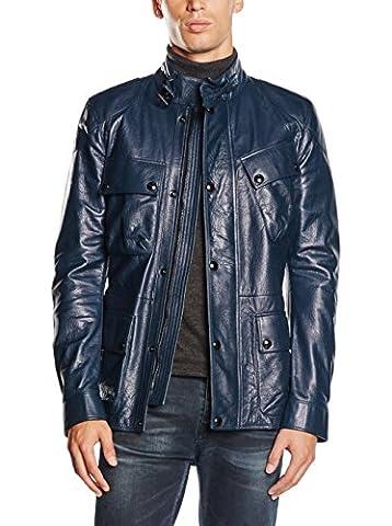 BELSTAFF Circuitmaster Regency Blue - Man Leather Jacket - Biker - Size: 50
