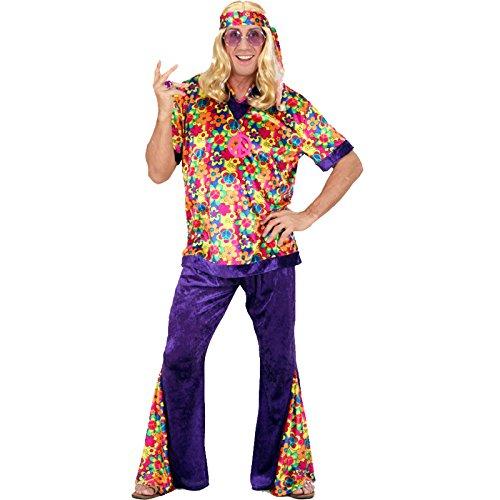 Widmann 7418M - Erwachsenenkostüm Hippie-Mann, Größe XL