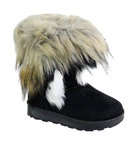 By Shoes Bottine Fourrée Effet Daim Pour Enfant