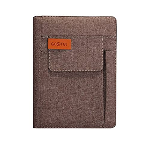 GEOTEL Notebook, Multi-Function&Recyclable Fabric Cover Notebook with Fancy Bookmark, Exterior/Interior