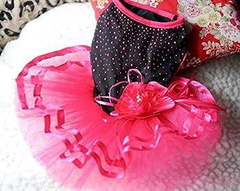 DDOQ la Mignonne Chat Chien Mariage Robe Rose Sexy Vêtements pour Animaux de Compagnie L