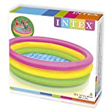 Intex Babypool Sunset Glow, 3-Ring, Mehrfarbig, Ø 147 x 33 cm -