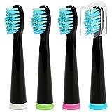 Fairywill Crystal Sonic Toothbrush Head Replacement Electric Cepillo de dientes Head x4 Cerdas con dientes