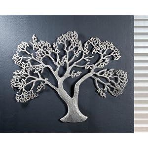 Wanddeko silber metall deine for Metall baum deko