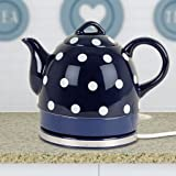 Keramik Wasserkocher Teekanne Blau