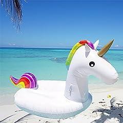 Idea Regalo - Gonfiabile Unicorno Inflatable Raft Unicorn Pool Float (200x100x90)