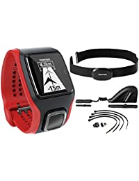 TomTom Multisport Cardio HRM+CSS+AM - Reloj, color negro / rojo