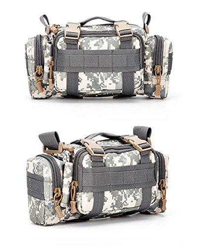 &zhou Kleine Taschen für Verwendung im Freien reiten Männer und Frauen kombiniert Geldbörsen Bewegung Schulter Umhängetasche Khaki