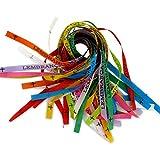 Bonfim: 25 original Bonfim Bänder, verschiedene Farben. Brasilianische Glücksbringer Wunschbänder. 3 Knoten = 3 Wünsche! Talisman. Wunschbändchen. Glücksbändchen.  - 2