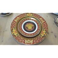 Versace Dolce 13 piezas Medusa Rosso (12 platos cm 18- 1 serviceplate cm 30