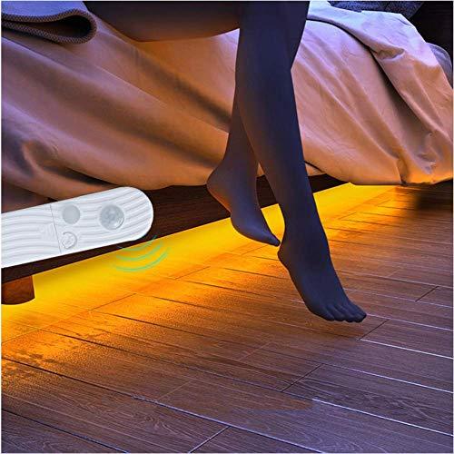 LED étanche batterie alimenté 5v usb led bande lampe de chevet veilleuse s'allume armoire éclairé bande USB sans capteur blanc/blanc chaud 1M