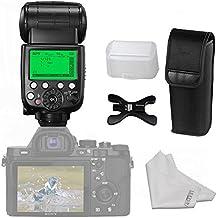 PIXEL TTL 1/8000s HSS Flash sans fil Speedlite sont livrés avec support Diffuseur Inseesi Chiffon de nettoyage pour Sony EOS Digital SLR Camera Sony A7A7S A7sii A7R A7rii A7ii A9A77A99A6000A6300NEX6RX1RX1R RX10R