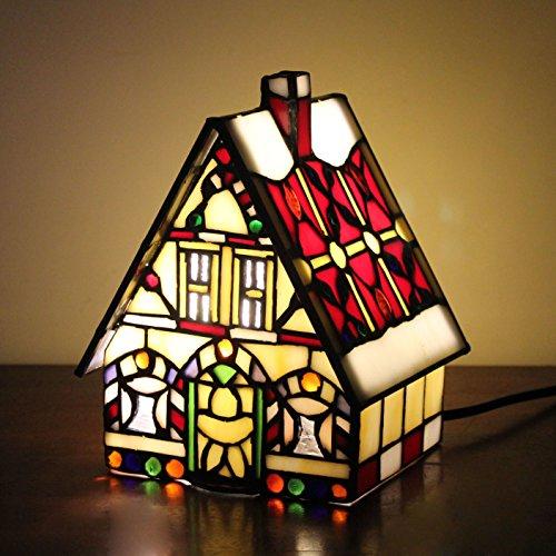 WCS Style Red Kleine Haus Villa Tisch Lampe Kinder Lampe Nacht Licht -