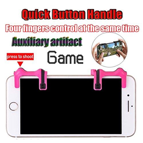 TAOtTAO Telefon Mobile Gaming Trigger Feuer Knopf Griff für L1R1 Shooter Controller PUBG