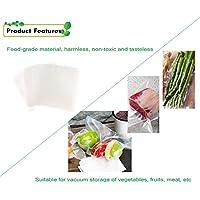 Shuzhen,Bolsas de Almacenamiento de Alimentos Frescos al vacío 50PCS(Color:Blanco Claro)