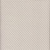 100% Baumwolle Stoff | Grau-Beige (Perlhellgrau) | Kleine Punkte | Stoffbreite: 140cm Meterware (1 Meter)