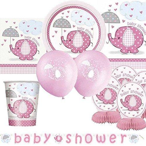 éléphants de parapluie Rose Ultime fête naissance bébé Kit pour 8