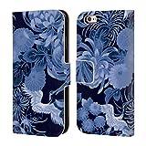Head Case Designs Offizielle PLdesign Blau Vintage Blumig Brieftasche Handyhülle aus Leder für iPhone 6 / iPhone 6s
