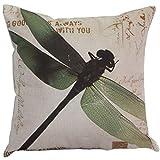 AILIN1 Weich dekorativ Kissenbezüge, Dragonfly Schlafsofa Kissenbezug (grün) für Heimstudien-Bettsofa (Farbe : Green)