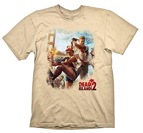 Dead Island 2 T-Shirt Key Art Golden Gate Cream, M