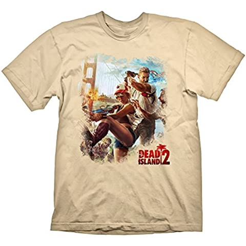 Dead Island 2 T-Shirt Key Art Golden Gate Cream, S [Importación Alemana]