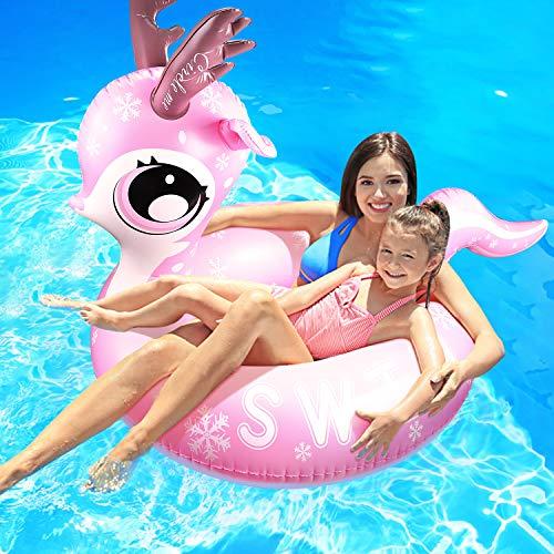 Schwimmring,Aufblasbar Tier Luftmatratze Outdoor Pool for Two Person Play, für 1-2 Erwachsene/Kinder Swimming Lifebuoy,Size: 116cm* 110cm*42cm (Erwachsenen-stores Der Von In Nähe)