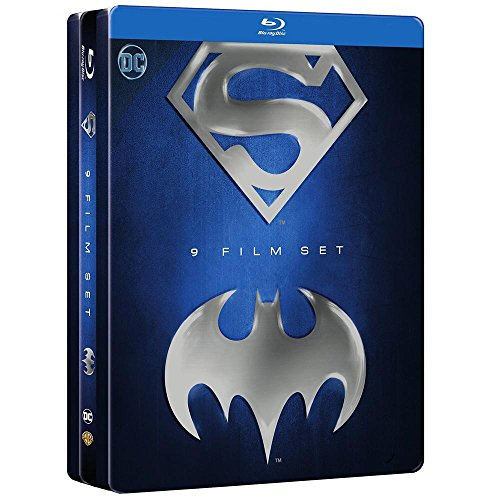 Batman/Superman Anthology Collection SteelBook 9 Film-Set (9 Discs) [Blu-ray]