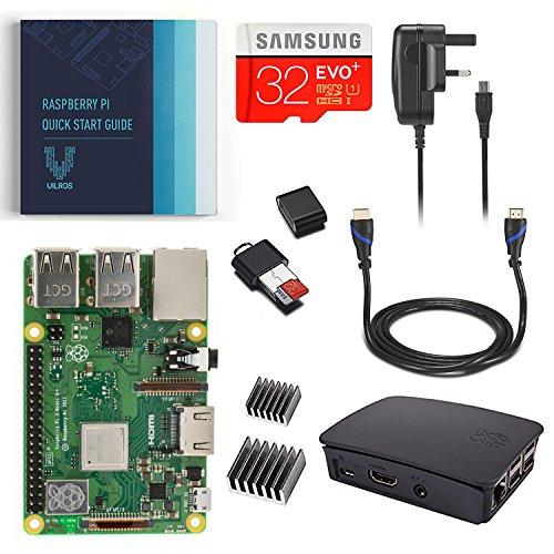 Vilros Raspberry Pi Model B+. RP 3 Model B+ Complete Kit with Black Case