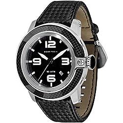 Glam Rock Men's Sobe Tech 50mm Black Silicone Band Steel Case Swiss Quartz Analog Watch GR33009N