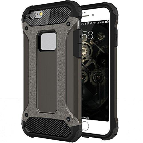 iPhone 7 Plus Coque, HICASER 2 en 1 Combo Hybride Housse Etui Robuste Protection [Full Body] Dual Layer Armure Lourde Case pour Apple iPhone 7 Plus 5.5-inch Noir Brun