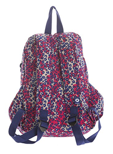 Big Handbag Shop, Borsa a zainetto donna Backpack Style 2 - Red & Blue