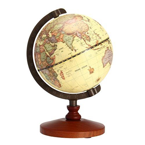 ZHENWOFC 5,5 Vintage Desktop Tisch rotierende Erde Weltkarte Globus antike Geographie Home Decor Geschenk