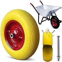 Schubkarrenrad Vollgummi PU 4.80/4.00-8 390 mm 200 kg + Achse - Reifen Ersatzrad - Modellauswahl