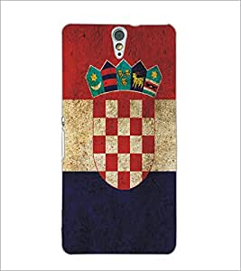 PrintDhaba Pattern Logo D-5177 Back Case Cover for SONY XPERIA C5 ULTRA (Multi-Coloured)
