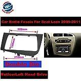 Auto Wayfeng WF® Doppel 2 DIN Auto Stereo Radio Kopfeinheit GPS Navigation Platte Panel Rahmen Fascias für 2005-2011 Seat Leon Links Rechts Hand Fahren - Linkslenker