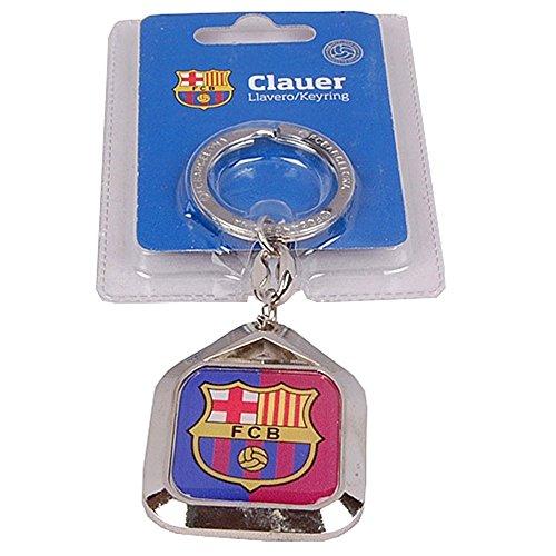 Llavero F.C. Barcelona Escudo Metálico Placa Cuadrada