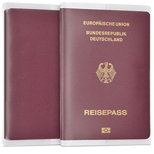 Kwmobile 5x porta passaporto in plastica trasparente - custodia passaporto copertina trasparente protettiva id protezione cristallo documenti patente